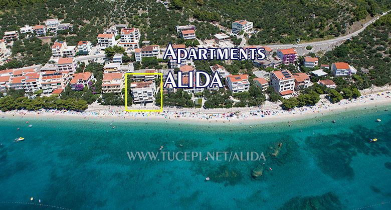 Tučepi Kamena beach panorama