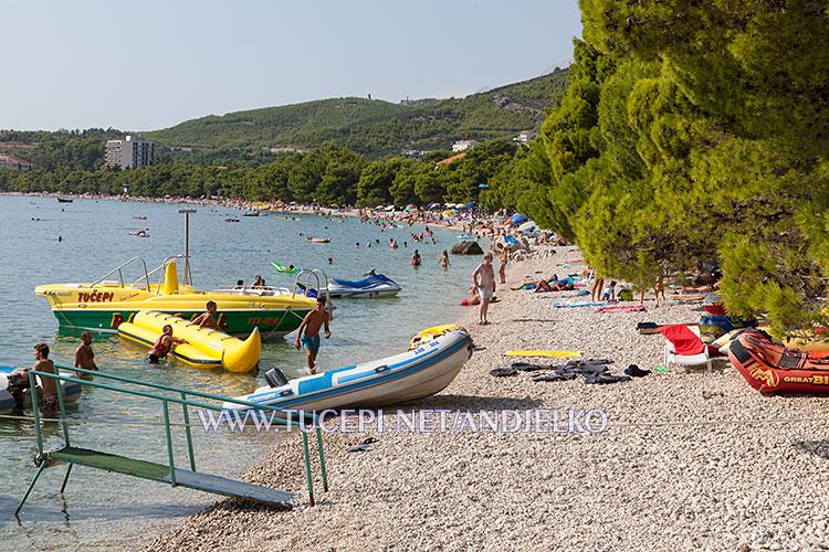 Tučepi beach at hotel Afrodita