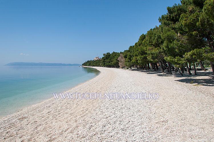 Tučepi, beach Slatina