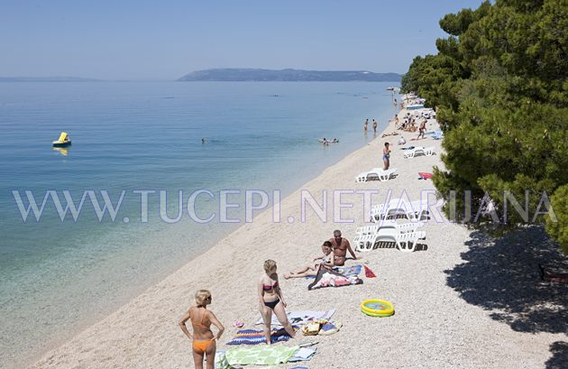 Tučepi beach at hotel Jadran