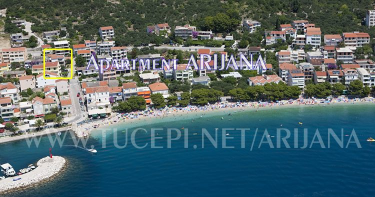 Tučepi panorama - beach aerial