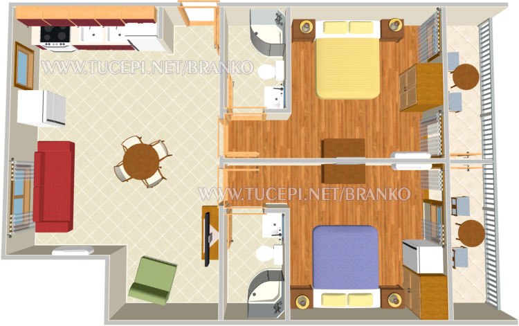 apartment's plan shows all