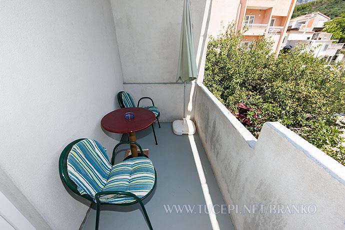 sittign furniture on balcony