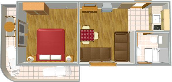 apartments DIVA, Tučepi - plan of apartment