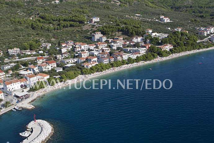 aerial panorama of Tučepi