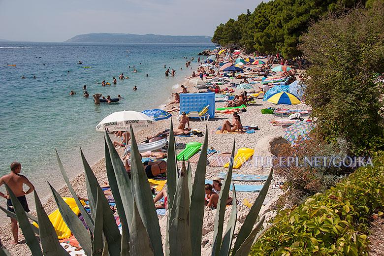 beach at hotel Jadran in Tučepi