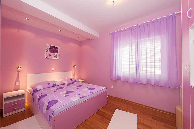 very nice bedroom with pillow under LED lighting