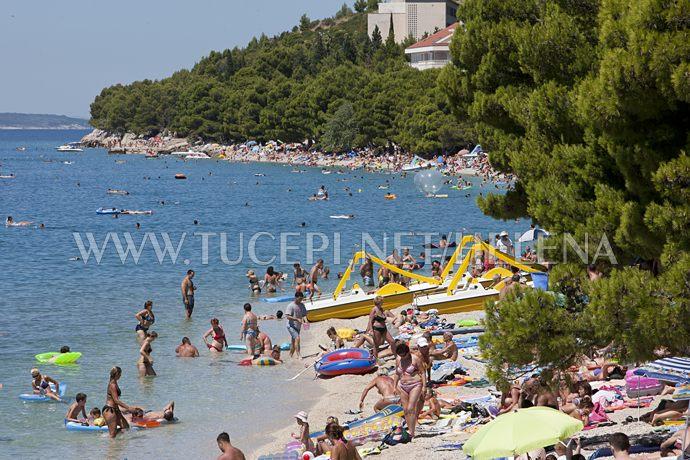 beach in Tučepi at summer