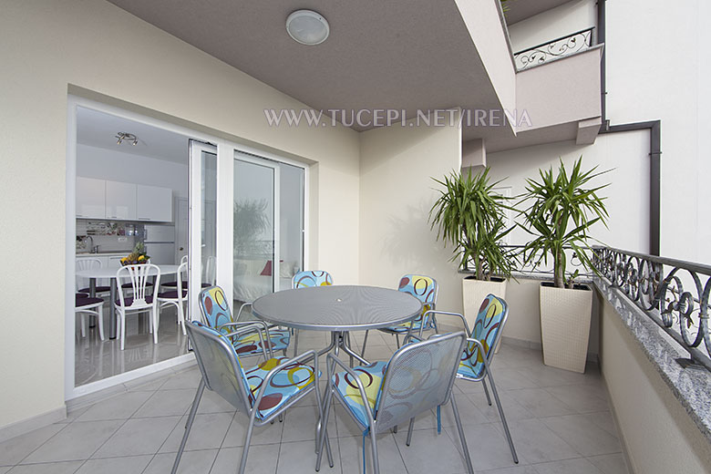 large terrace with sea view - apartment Irena Tučepi