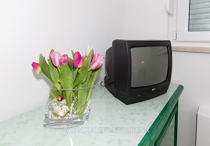 TV and flowers