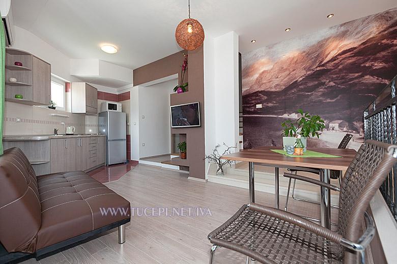 living room - apartments Iva, Tučepi