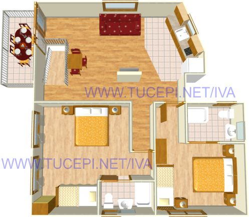 plan - apartments Iva, Tučepi