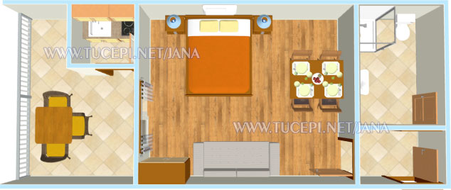 apartments Jana, Tučepi - plan