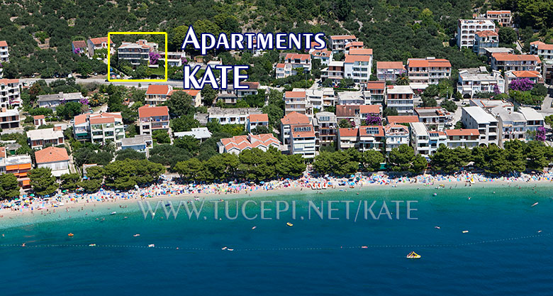 Apartments Kate - Tučepi, position
