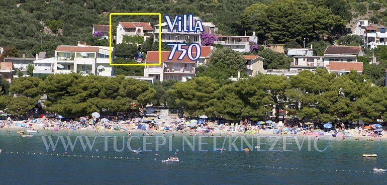 apartments Villa 750, Knežević, Tučepi - position