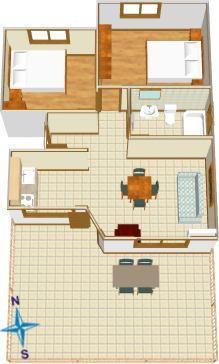 Apartments Kovačević, Tučepi - plan