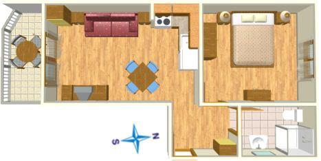 Apartments Villa Lili, Tučepi - plan