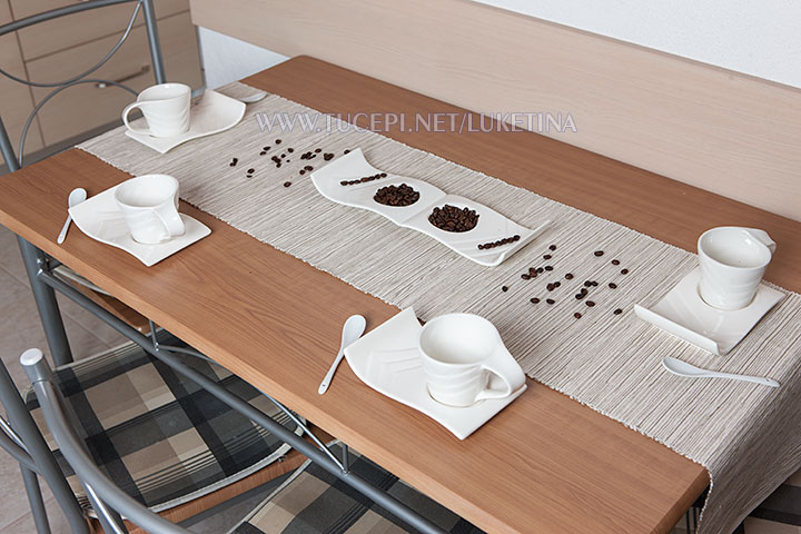 dining table with glasses