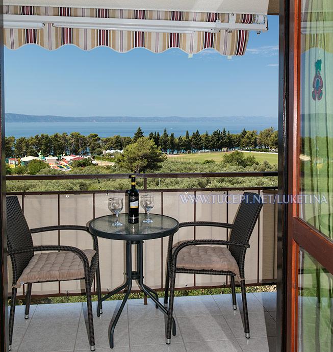 Apartments Luketina Tučepi, balcony with sea view