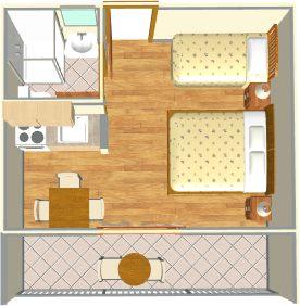 apartments Luketina, Tučepi - apartment's plan