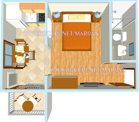 Apartments Marijan, Tučepi - apartment's plan