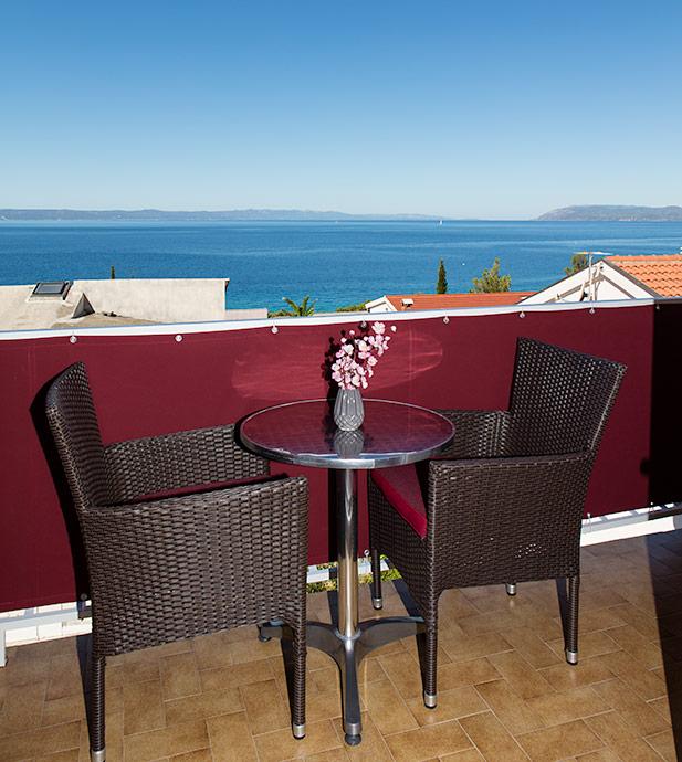 Apartments Matić, Tučepi - balcony with sea view