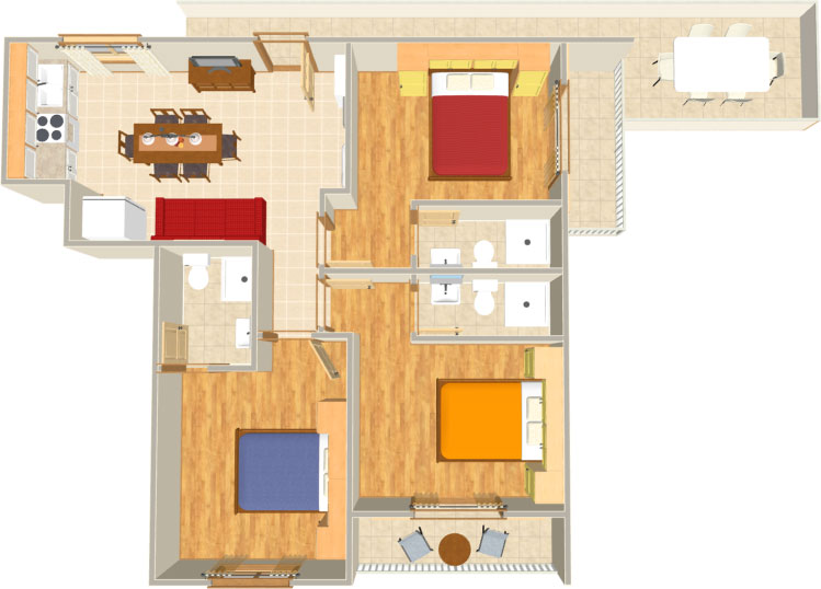 Apartments Matić 4:A6, Tučepi: plan