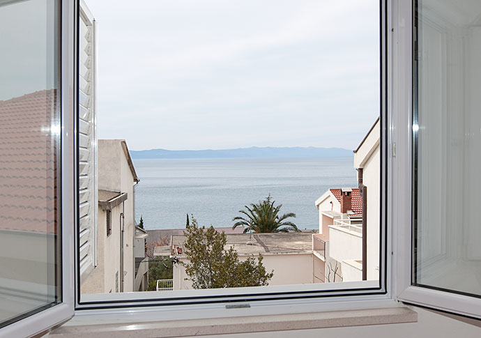 sea view through the window
