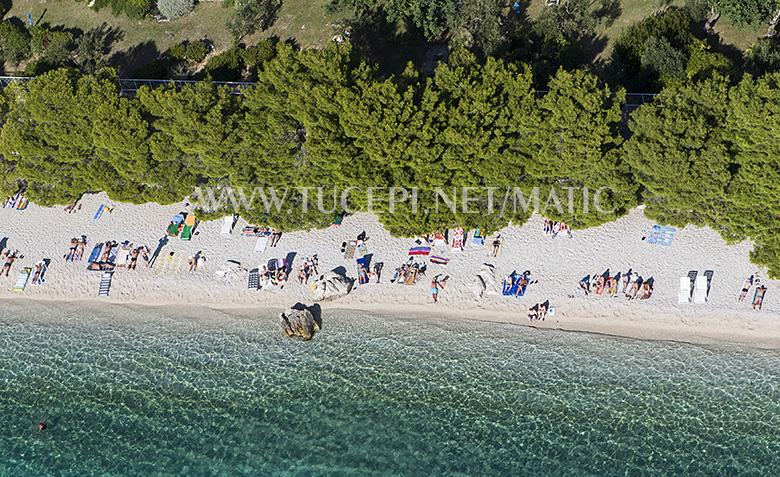 beach at hotel Afrodita, Tučepi
