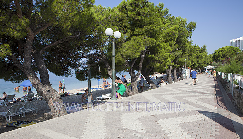 Promenade along the beach