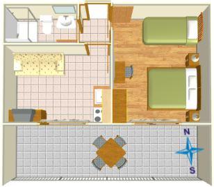 apartment Mendeš Tučepi - apartment's plan