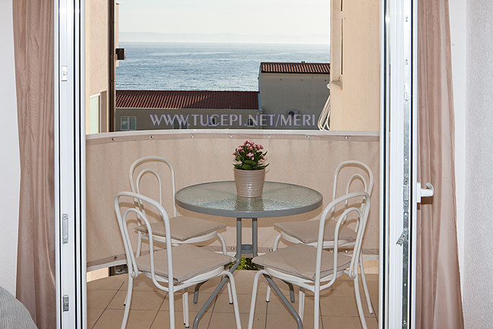 apartment Meri, Tučepi - balcony with sea view