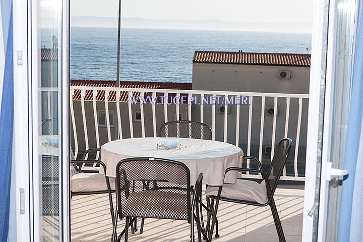 apartment Meri, Tučepi - balcony with sea view
