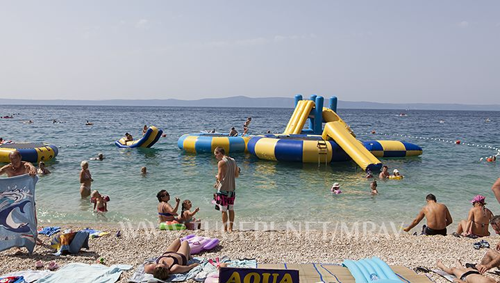 Children playground on the sea