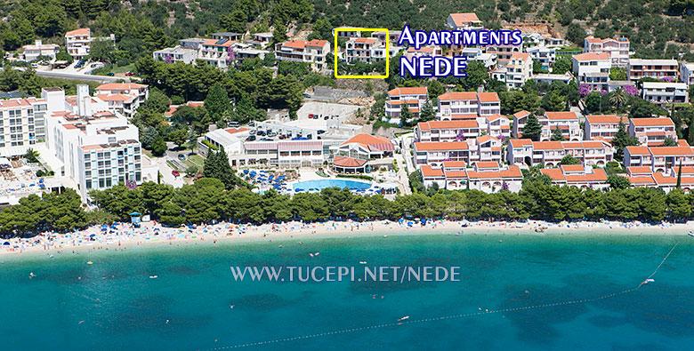 apartments Nede, Ante Grubišić, Tučepi - aerial position