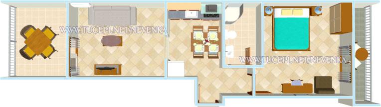 Tučepi, apartments Nevenka - plan