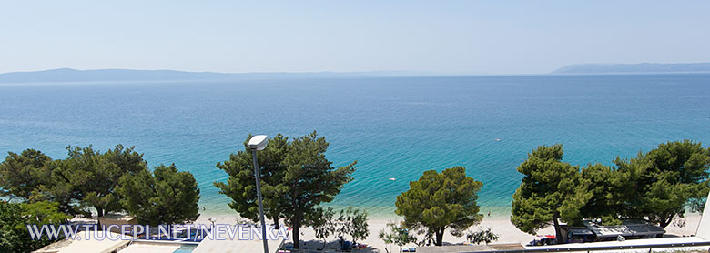 Tučepi, apartments Nevenka - wide panorama sea view from balcony