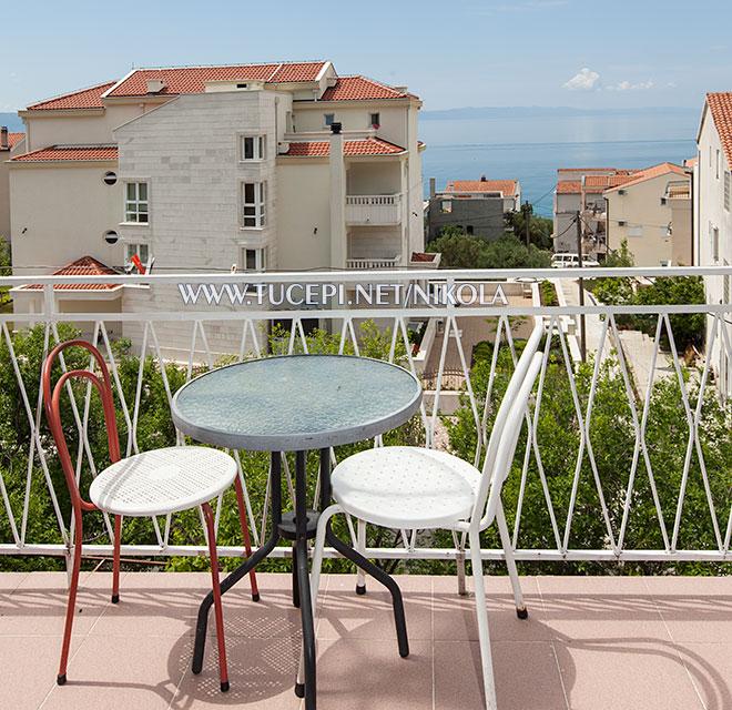 beautiful view from apartment's balcony Nikola, Tučepi