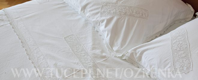 decorated bed linen