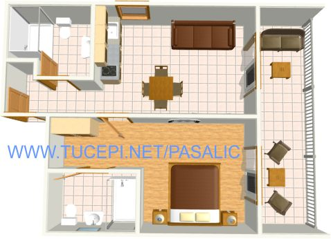 Apartments Pašalić, Tučepi - plan