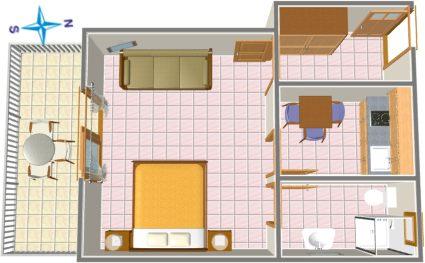 apartments Plaža, Tučepi - plan