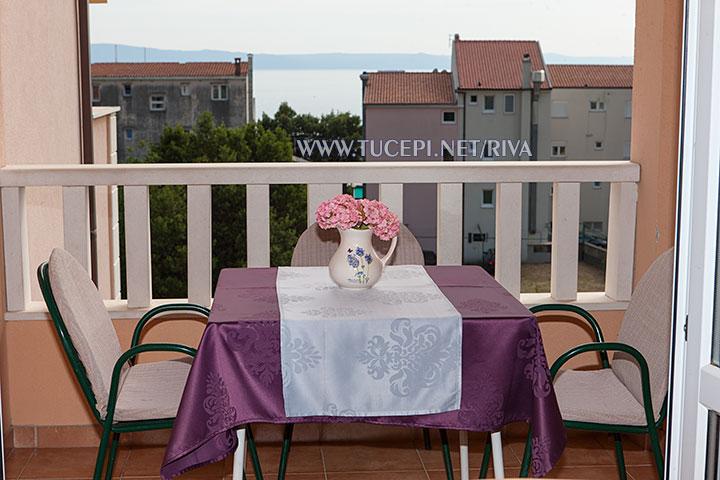 Tučepi, apartments Marija - balcony with sea view