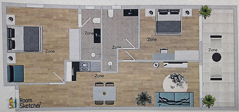 apartments Riva, Tučepi - plan