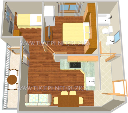 apartment plan - Wohnung Plan