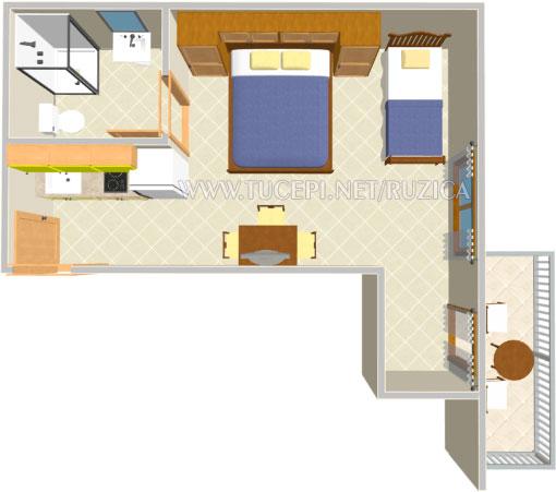 apartments plan - Wohnung Plan