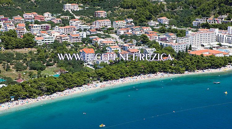 aerial panorama of Tučepi