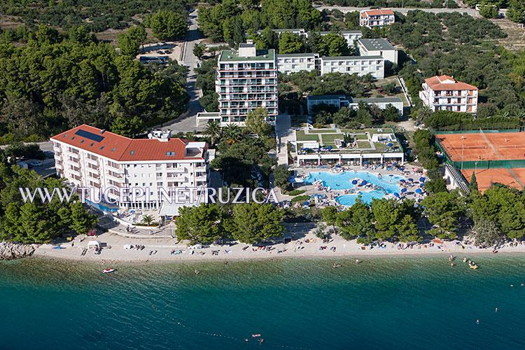 Beach Slatina with hotels Neptun and Tamaris
