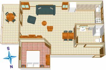 flat's plan - Apartments Maja Ševelj, Tučepi