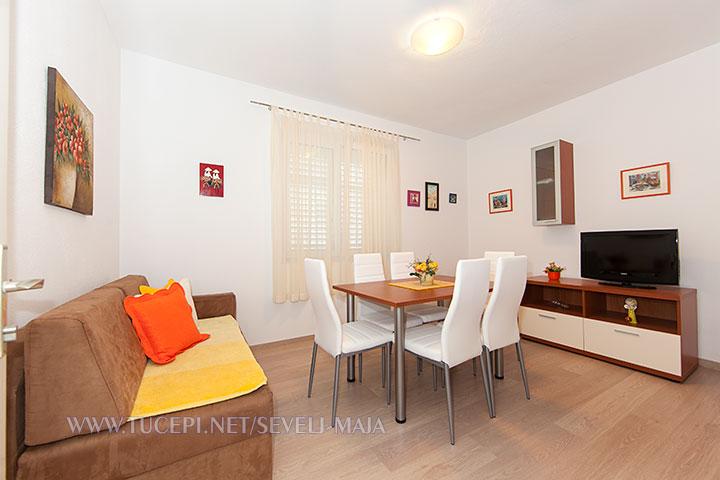 living room - apartments Maja Ševelj, Tučepi