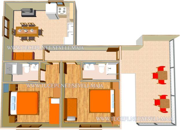 plan - apartments Maja Ševelj, Tučepi